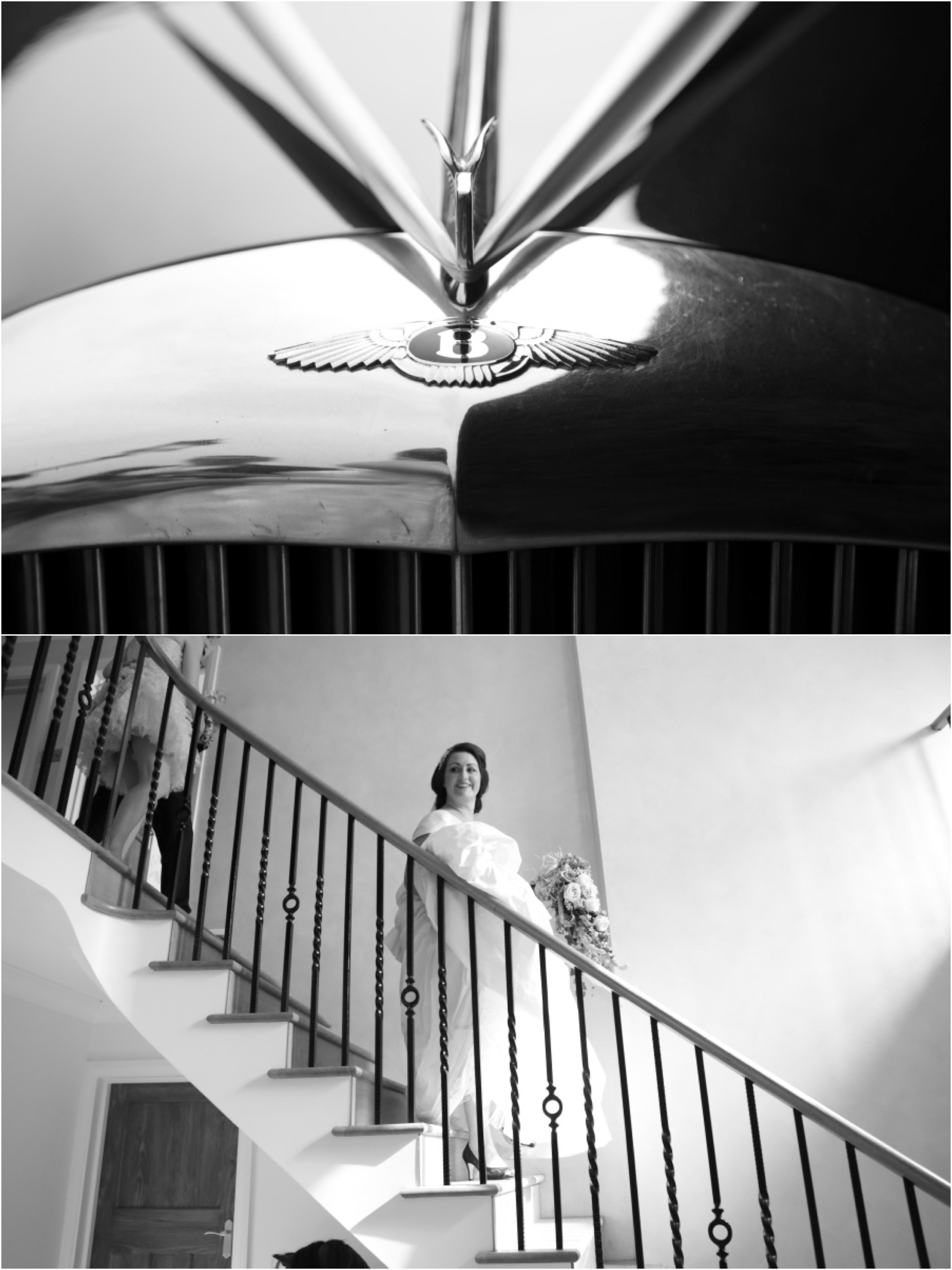 stair case and car at essex wedding - click through for more