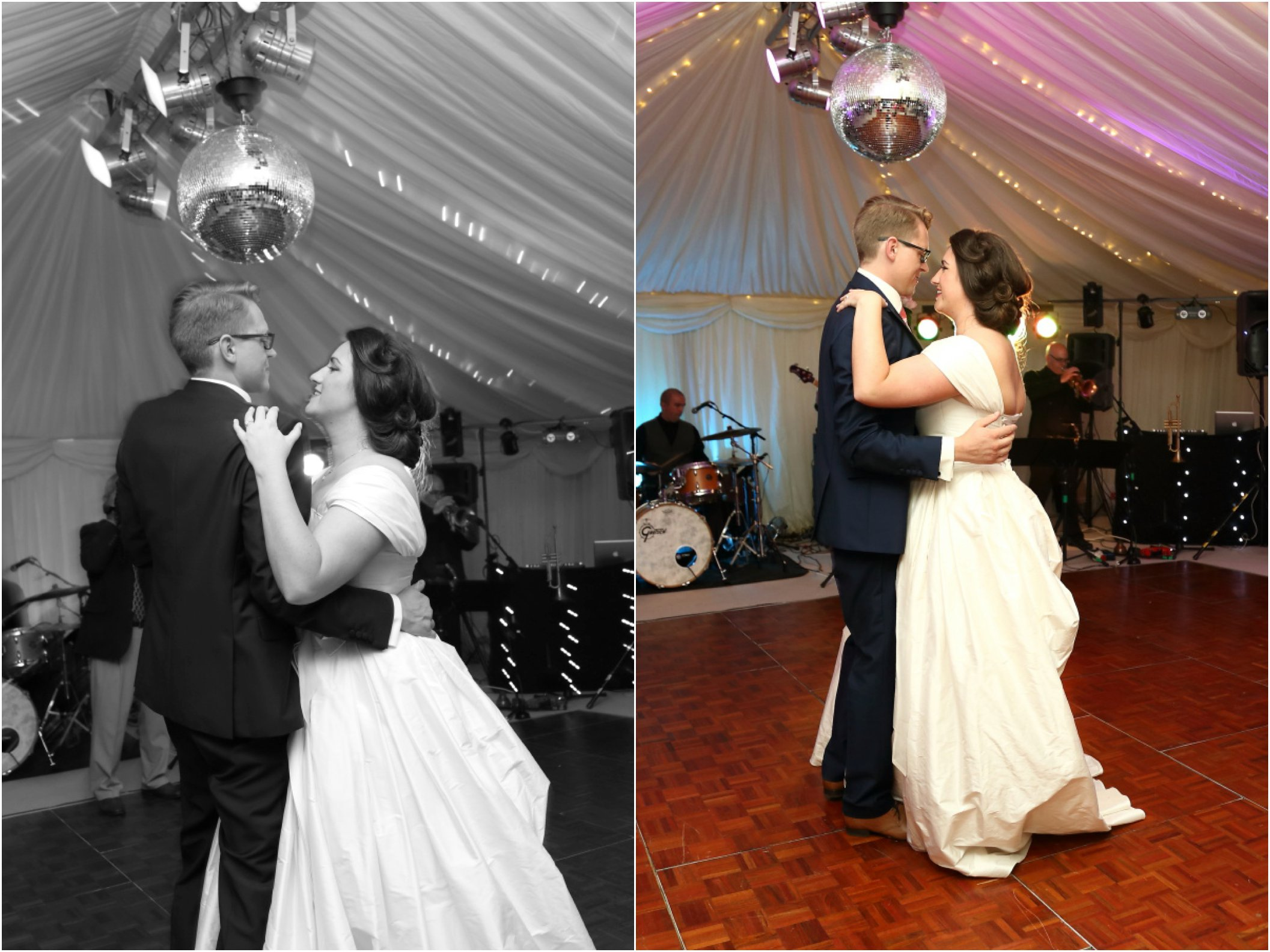 first dance at glamerous creative essex wedding