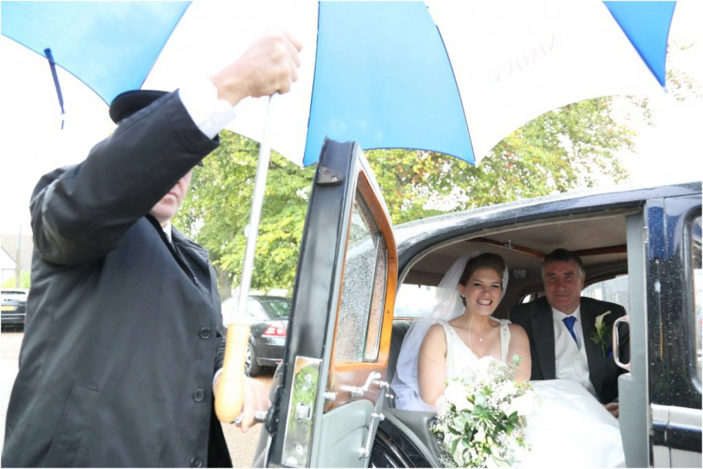 quirky wedding photography in the rain essex