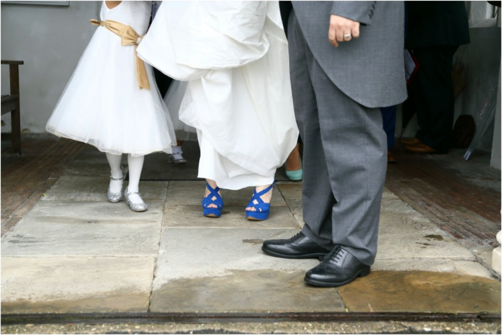 quirky shoes at essex wedding