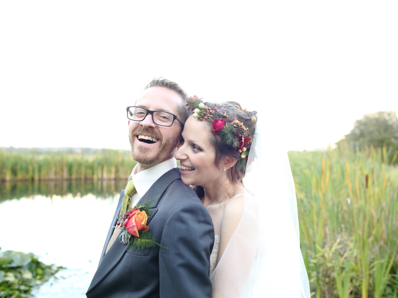 Beautiful autumn wedding photography at Moreves barn in Suffolk
