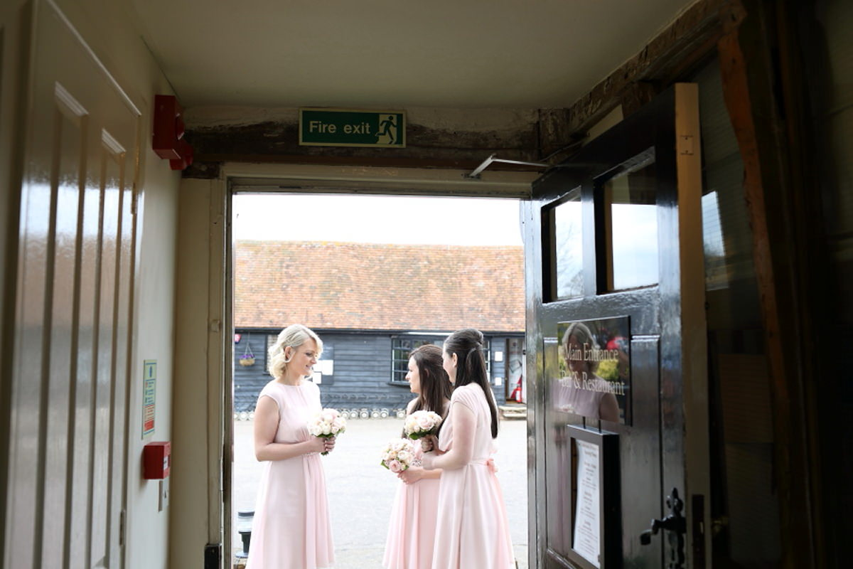 bridesmaids at channels golf club wedding