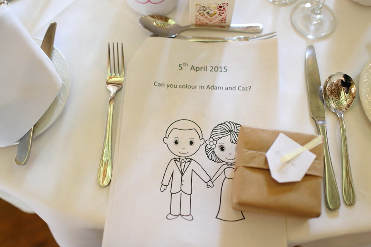 fun kids colouring pack at channels wedding