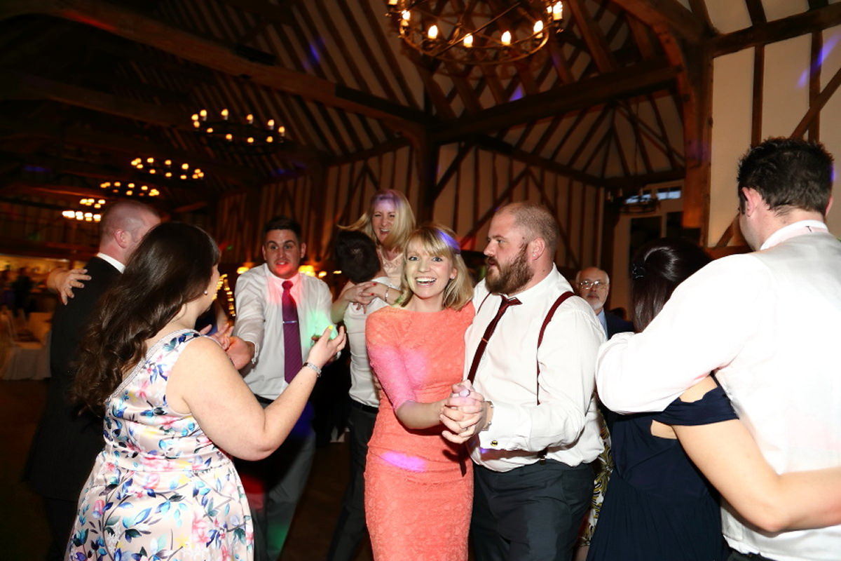 fun dancing at wedding channels golf club essex