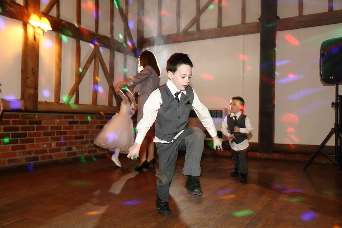 dancing page boy at channels golf club wedding