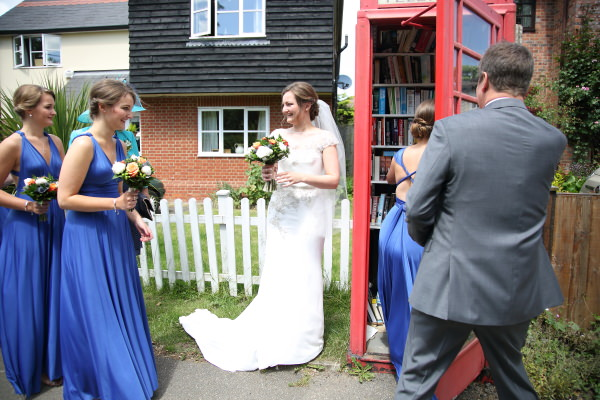 phonebox library on the way to the wedding in sewards end