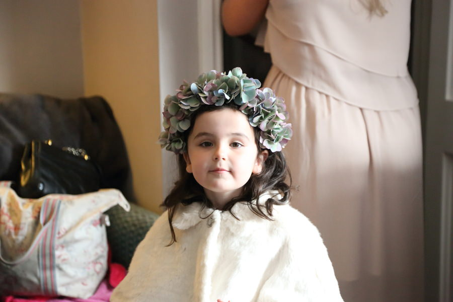 cutest flower girl at bishops stortford wedding photography