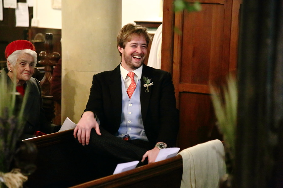 laughter at nowton church wedding photography