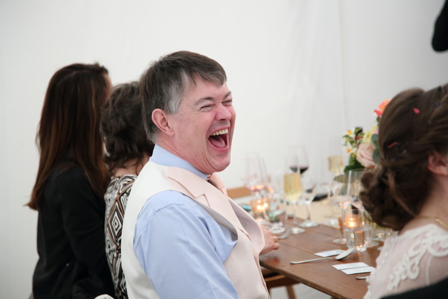 laughing father of the bride, bury st edmunds wedding