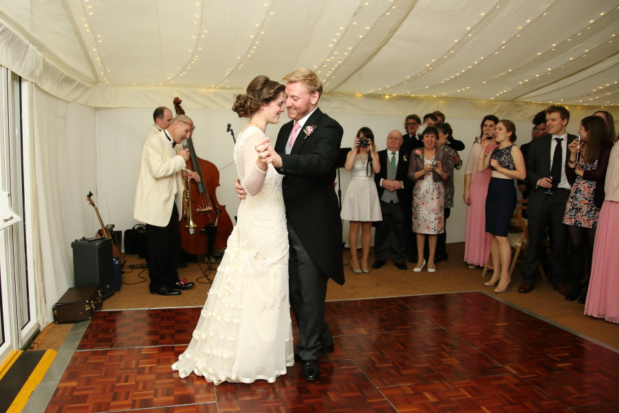 first dance to jazz band at bury st edmunds