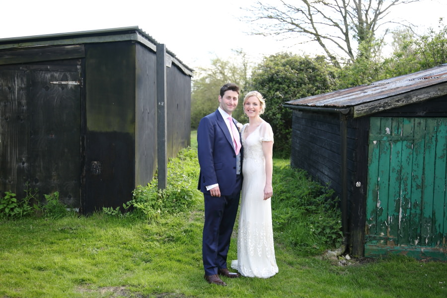 classic couple by old sheds at essex tipi wedding