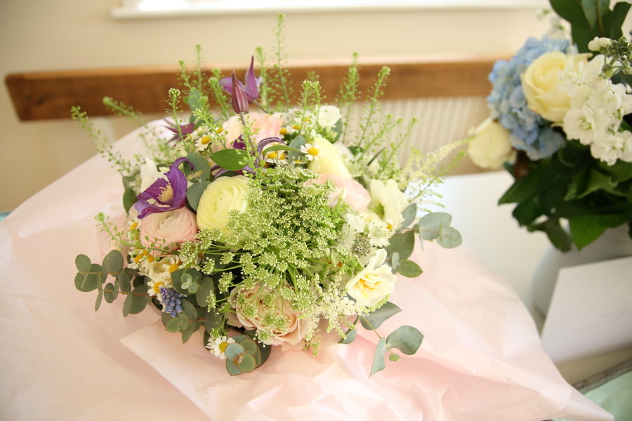 wedding flowers by the flower boutique, linton cambridgeshire
