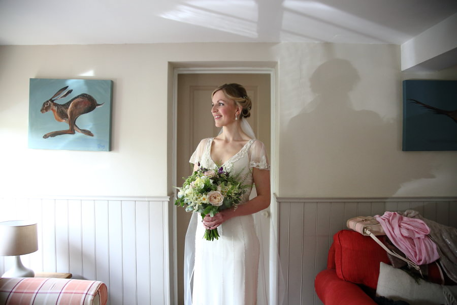 bride at home before wedding, essex documentary wedding photography