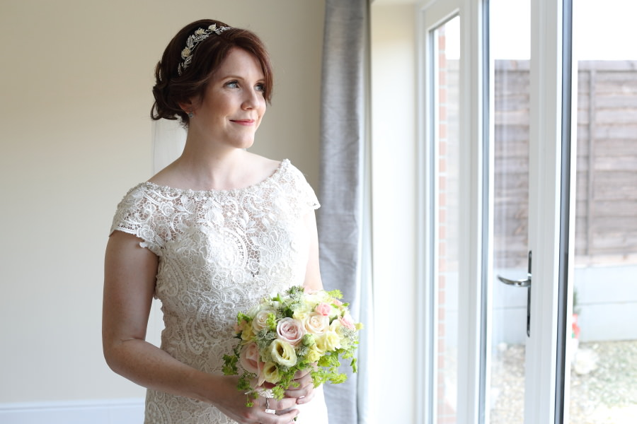beautiful bride at Clare wedding, Suffolk