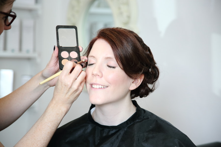 Bridal makeup at Clare in Suffolk