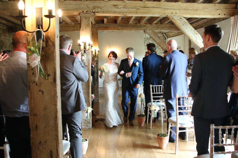 just married at the granary barns, newmarket suffolk