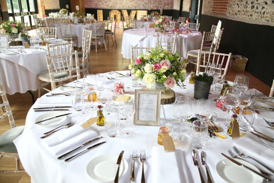 beautiful pretty tables at the Granary Barns. Suffolk