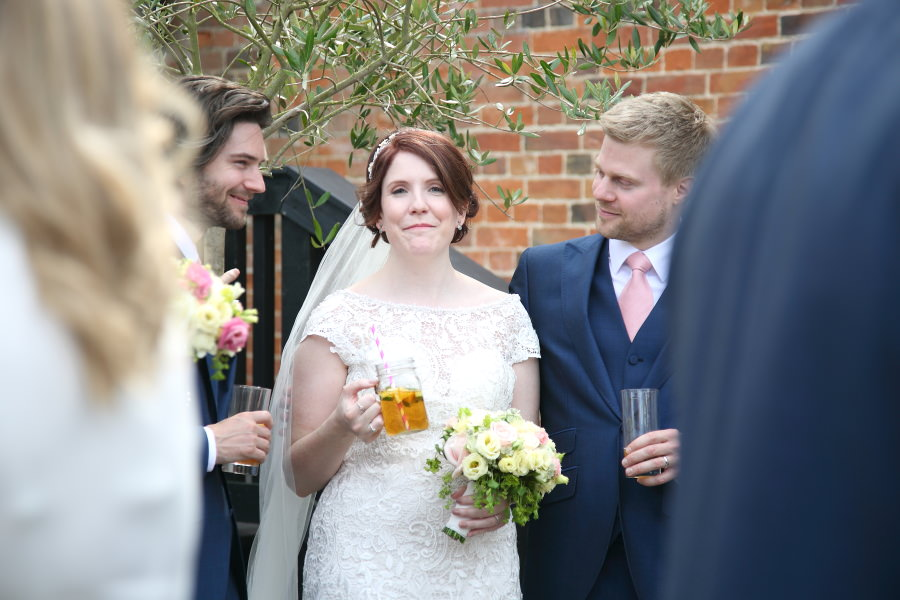 fun reportage wedding photography at the granary barns suffolk
