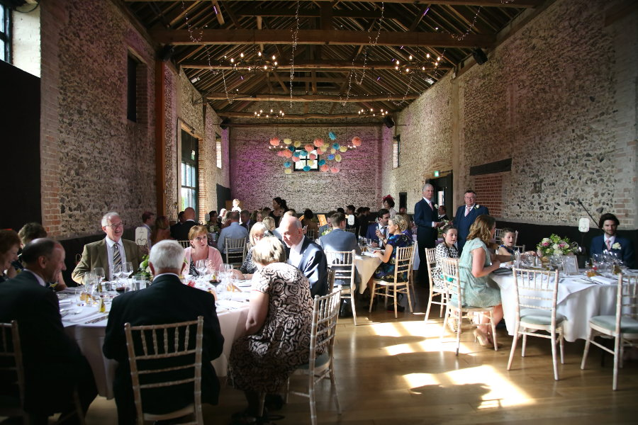 wedding at the granary barns, suffolk