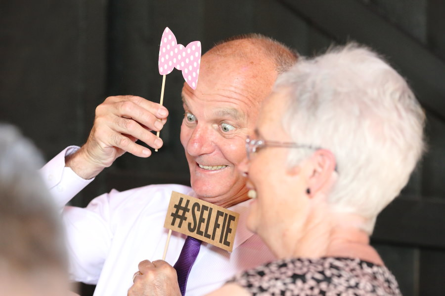 fun selfie props at suffolk wedding
