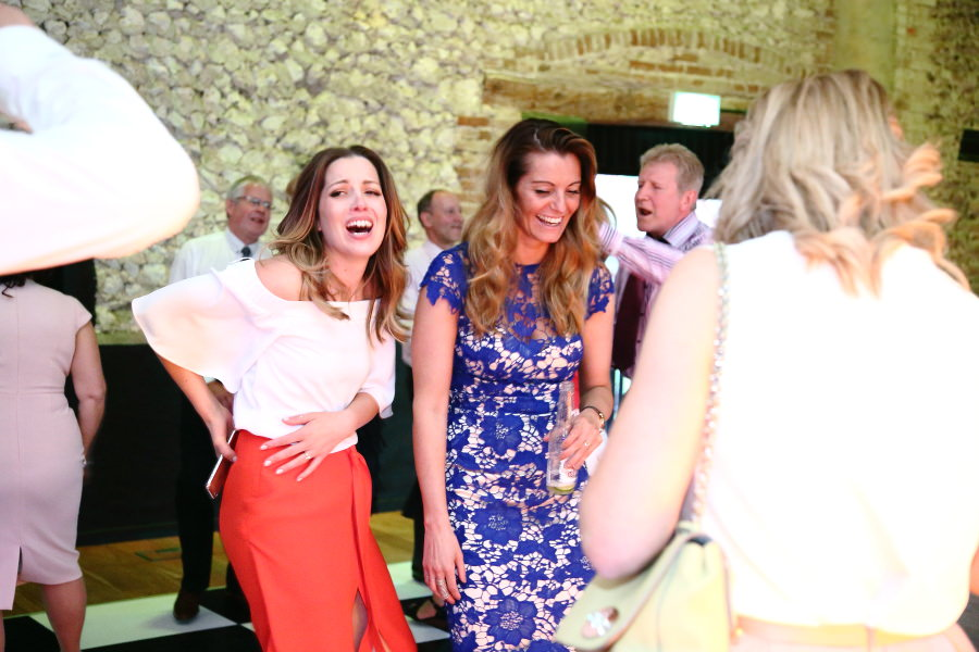 fun at granary barns wedding