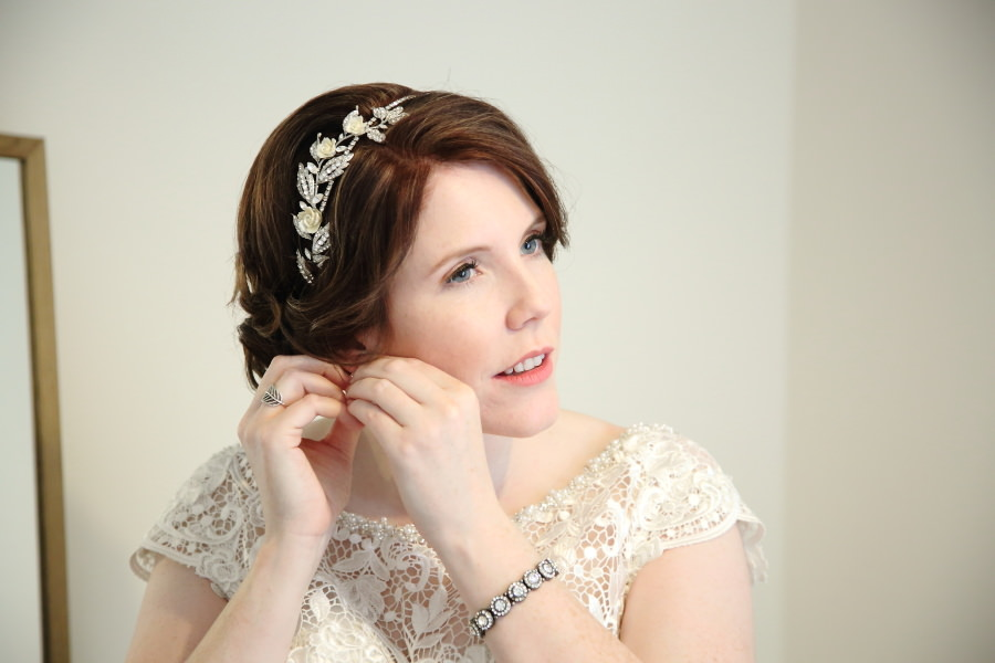 pretty elegant bride in Suffolk wedding