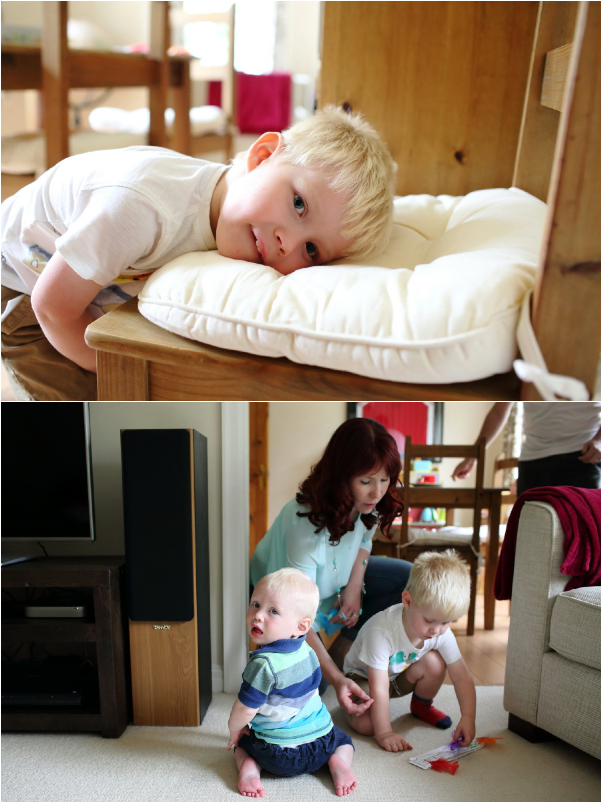 relaxed family session at home in Cambridge, click through for more natural family photography at www.rebeccaprigmorephotography.com