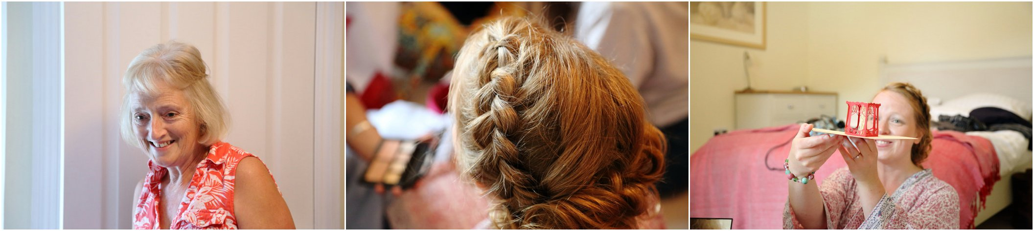plaited wedding hair, cambridge wedding photography