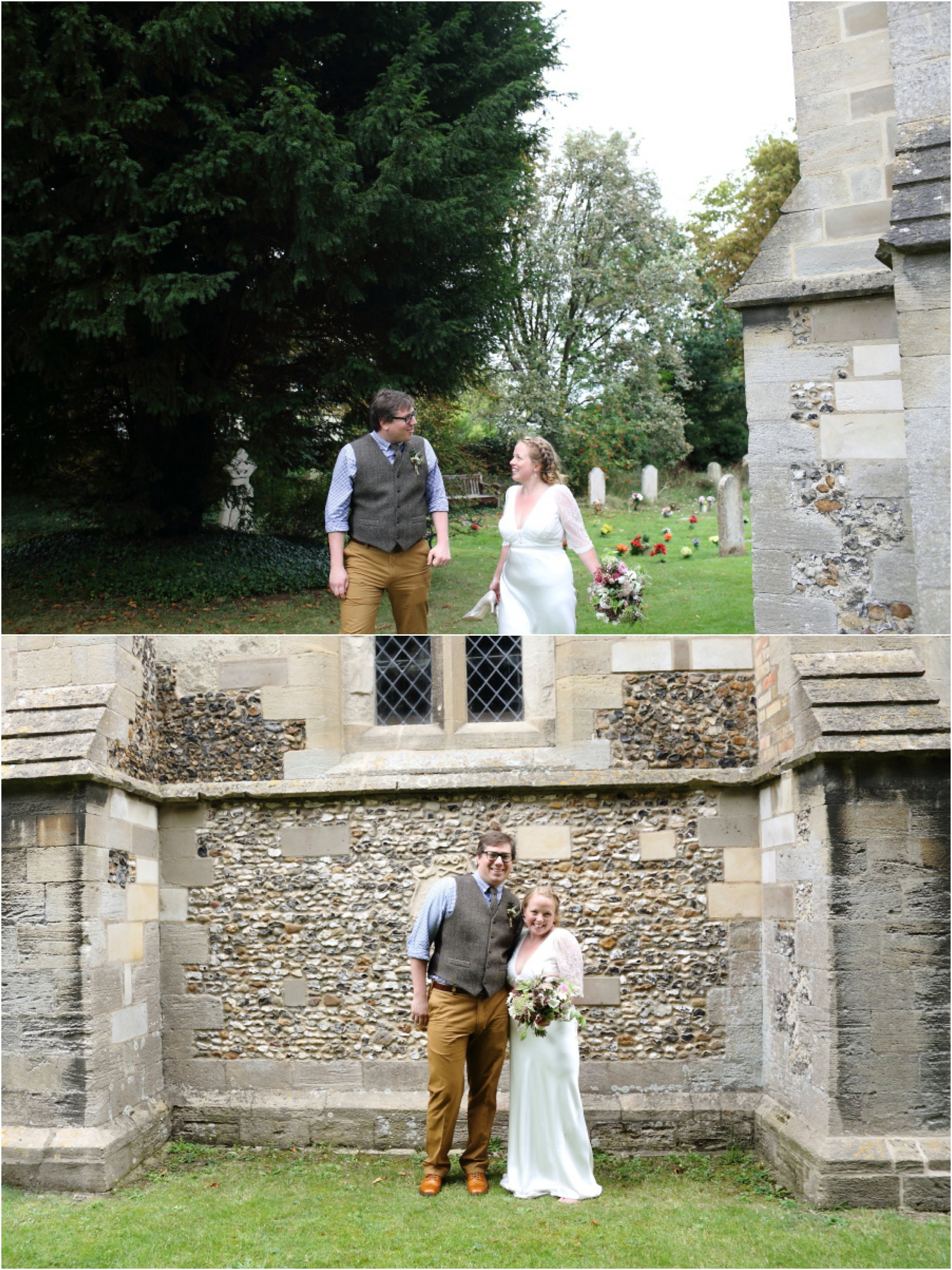 relaxed couples photography at Stapleford Church, Cambridge