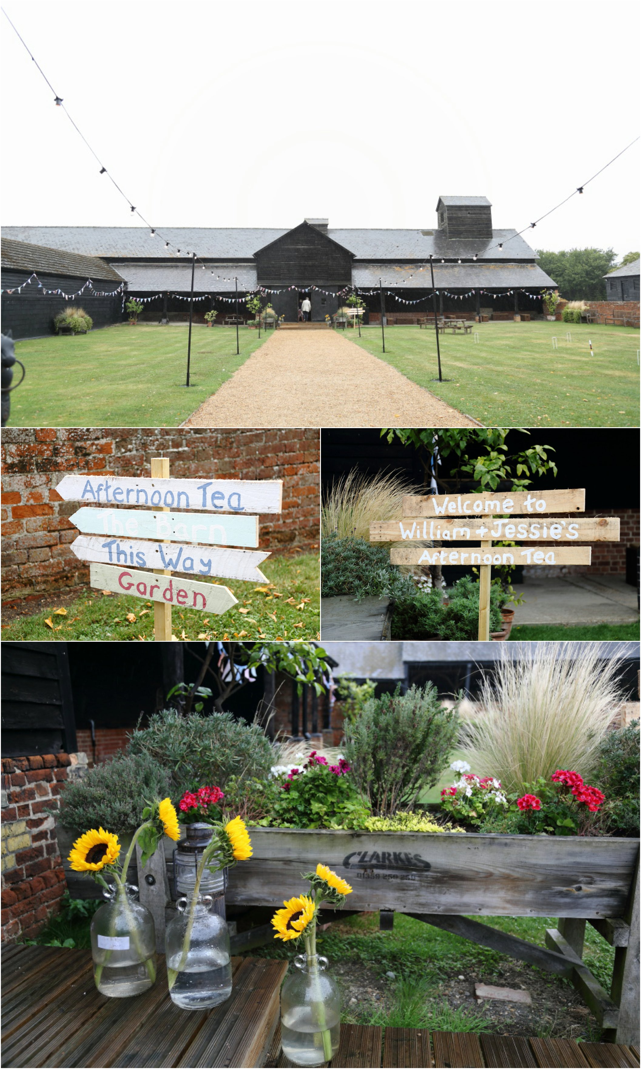 Long Barn, Childerley. Rustic wedding reception