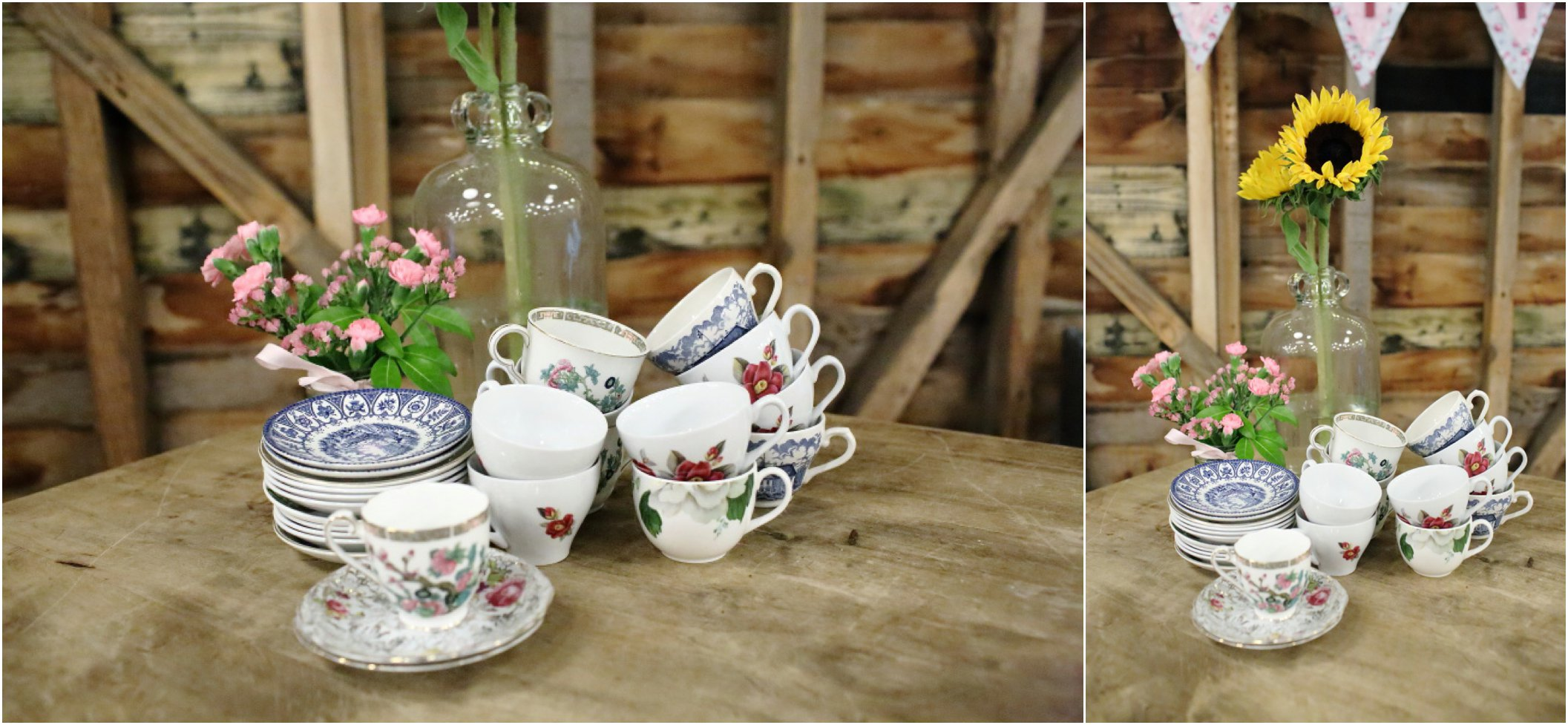 vintage, rustic afternoon tea at Childerley in Cambridge