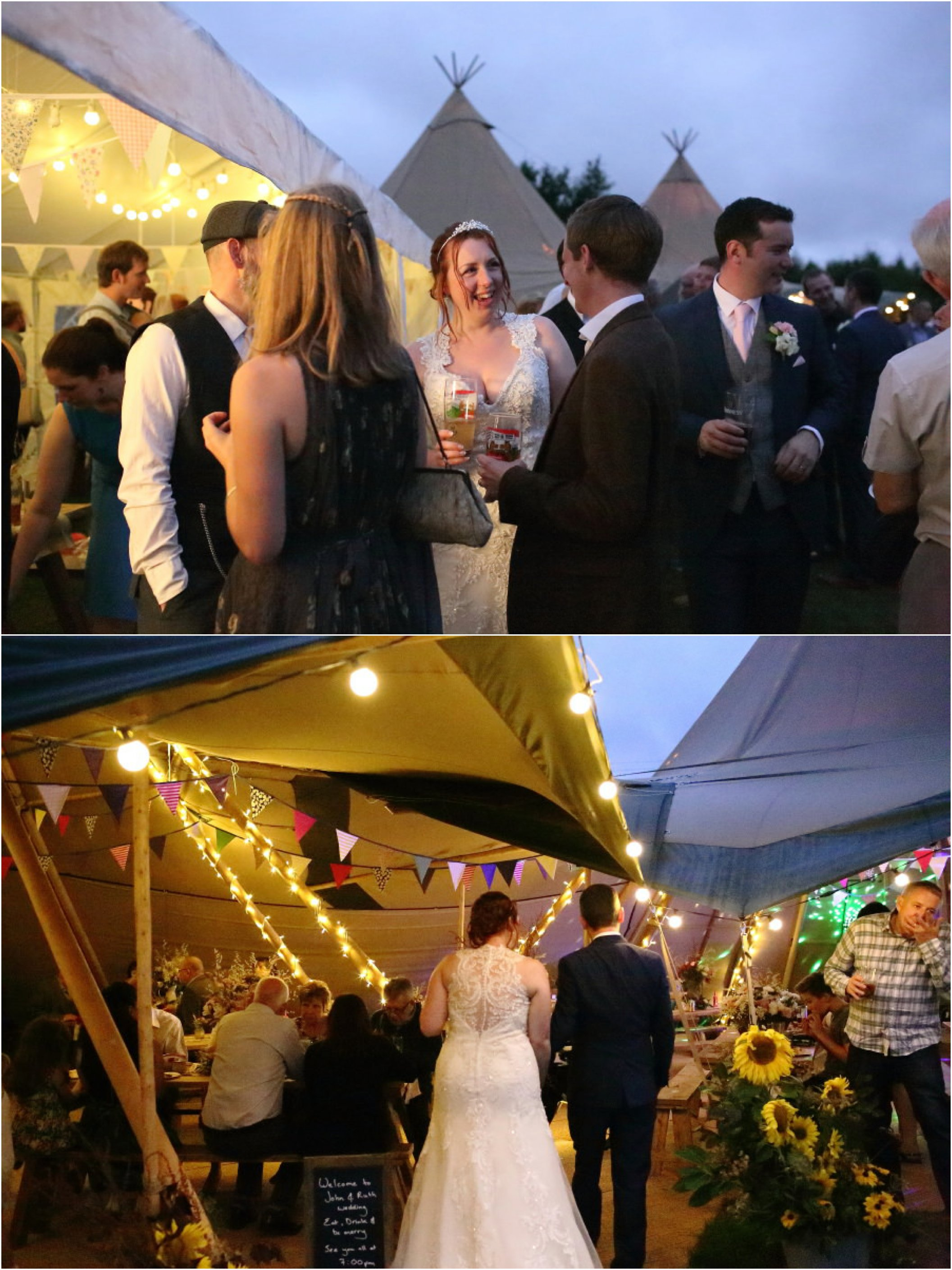 tipi wedding reception in suffolk, creative wedding photography