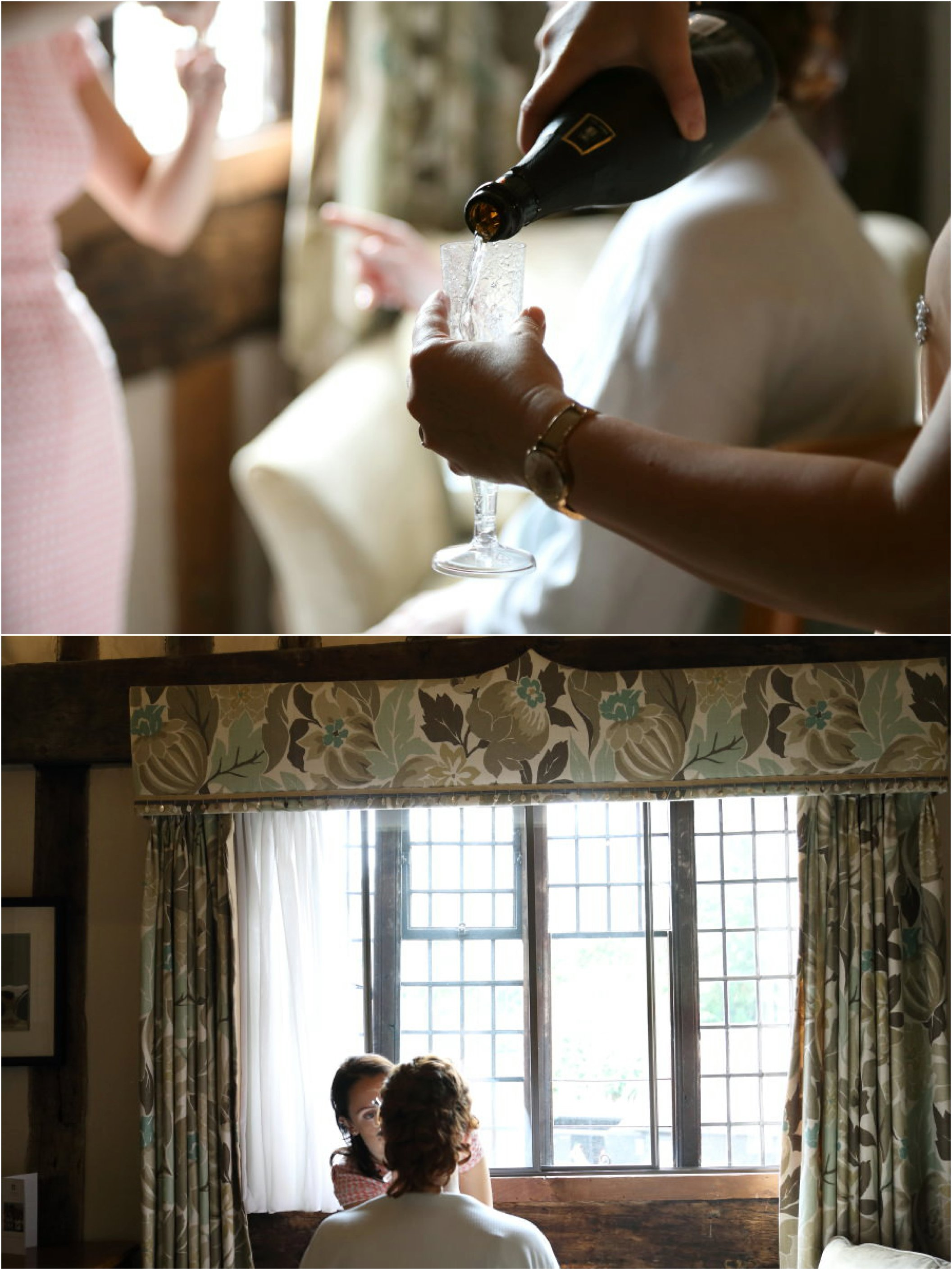 Bride getting ready at lavenham Swan, Suffolk wedding