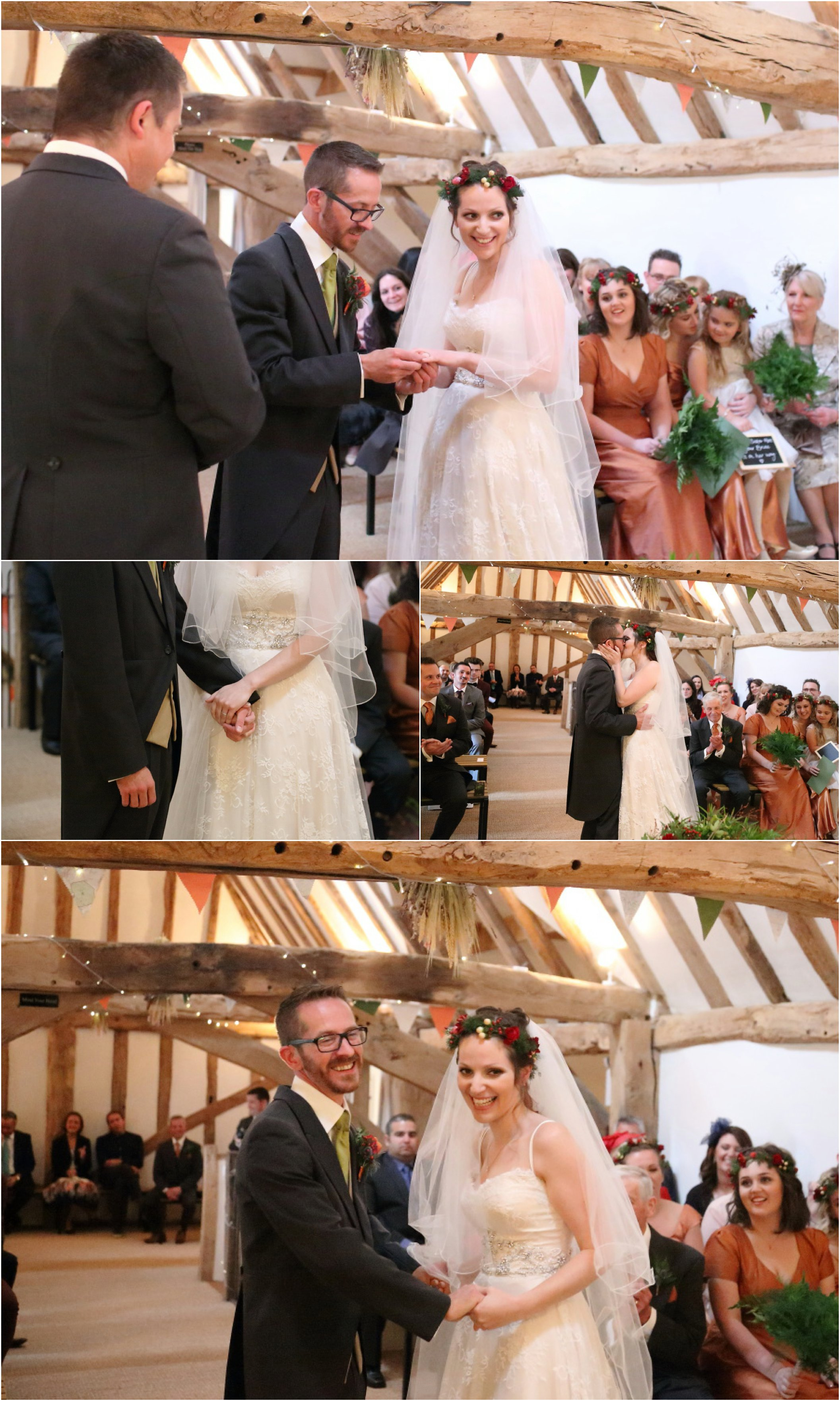 Moreves Barn wedding ceremnony, alternative wedding photography Suffolk