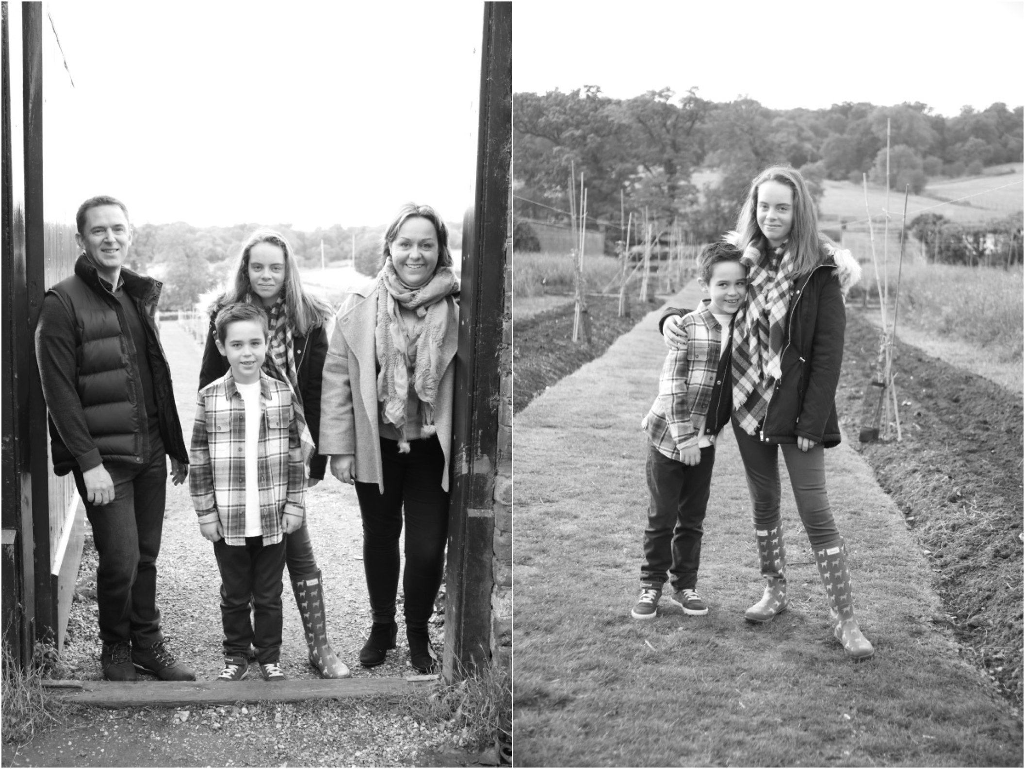 black and white family photography Ickworth Bury St Edmunds