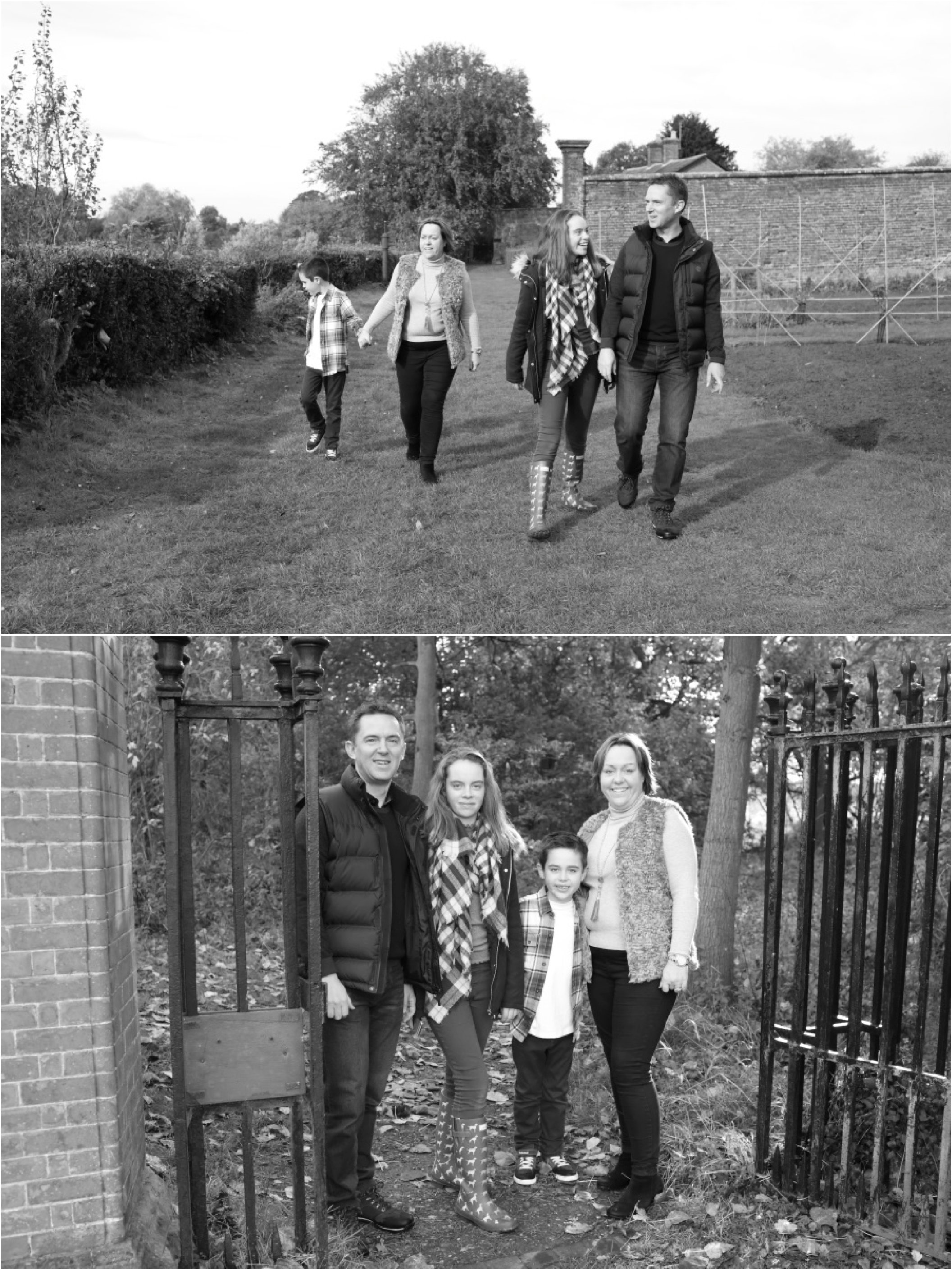 relaxed family photography bury st edmunds, black and white