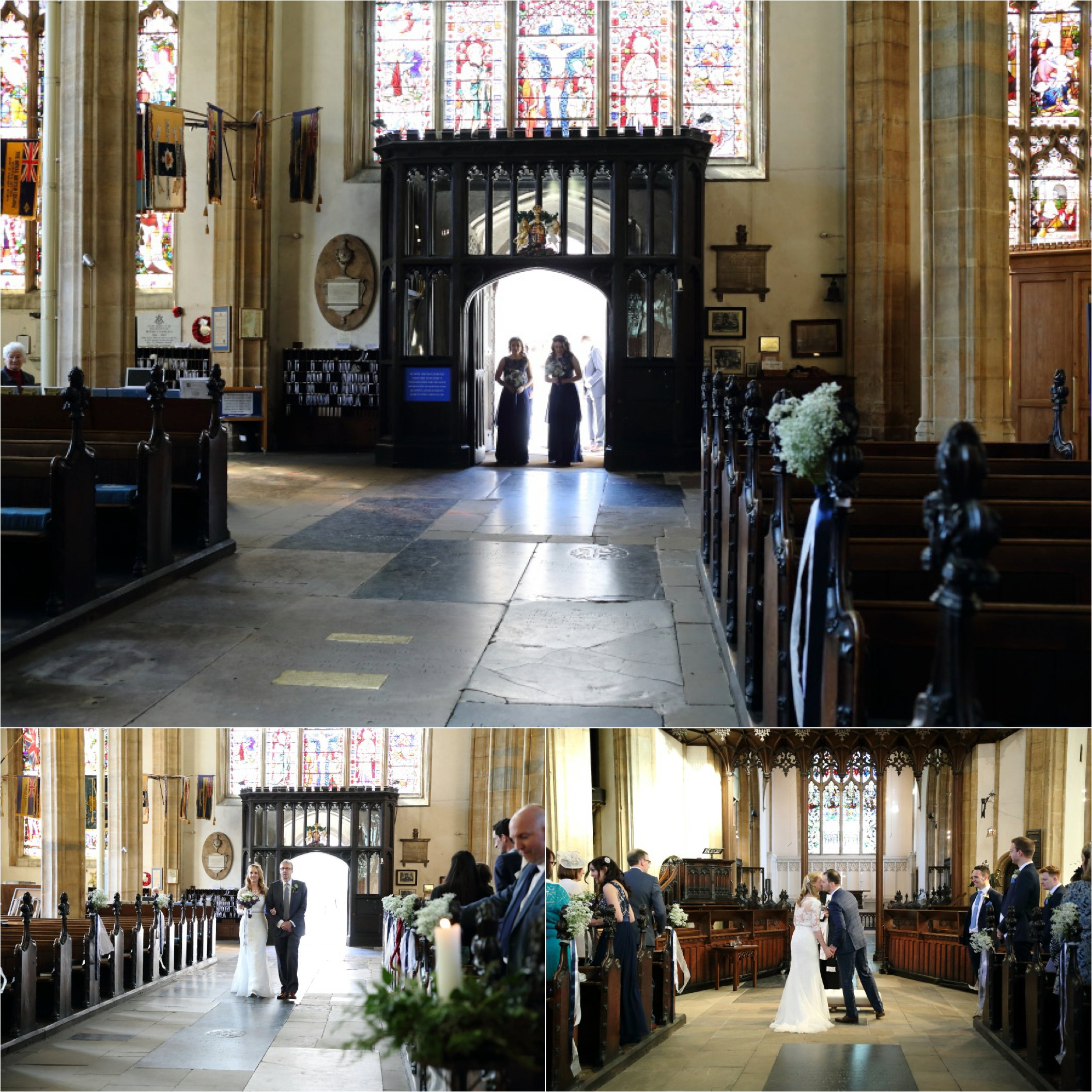 Alternative Bury St edmunds wedding photography, St Mary's church