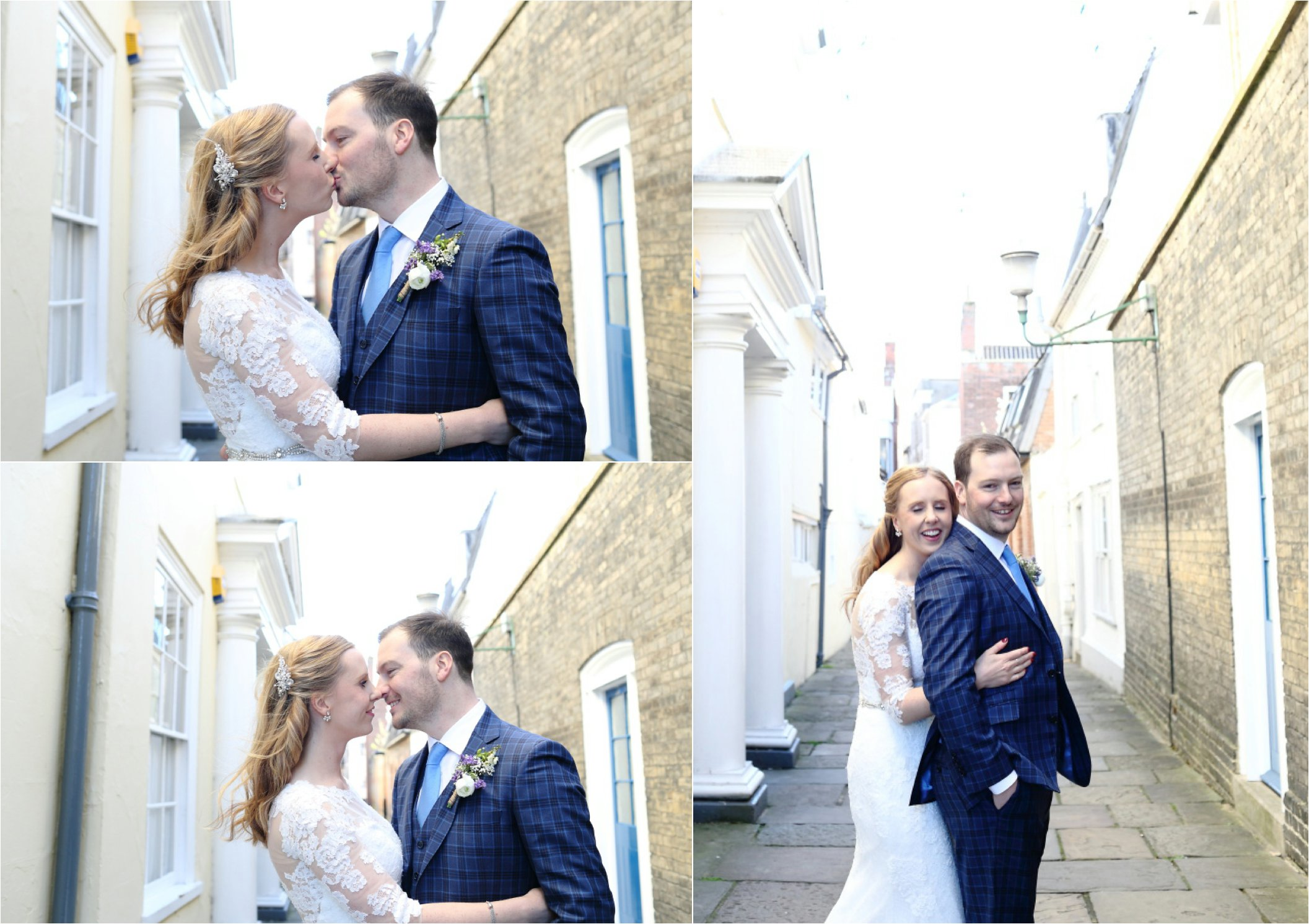 romantic soft wedding portraits of bride and groom, bury st edmunds