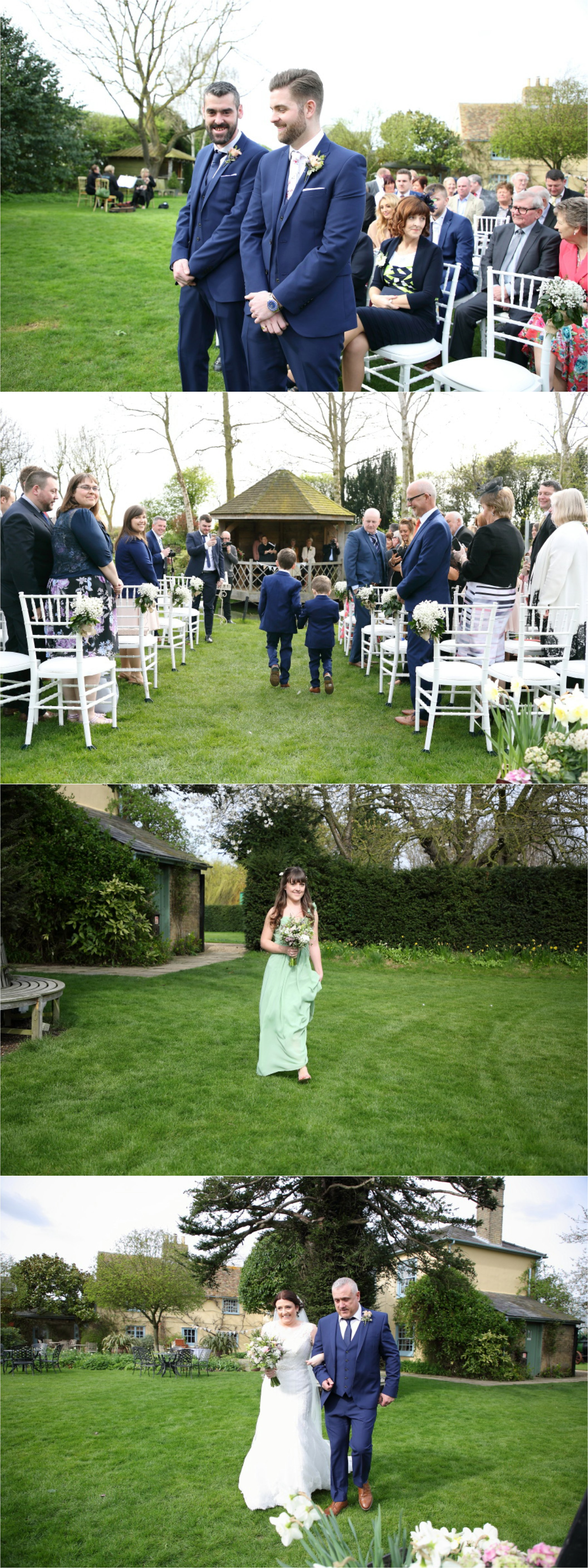 outdoor ceremony at south farm wedding