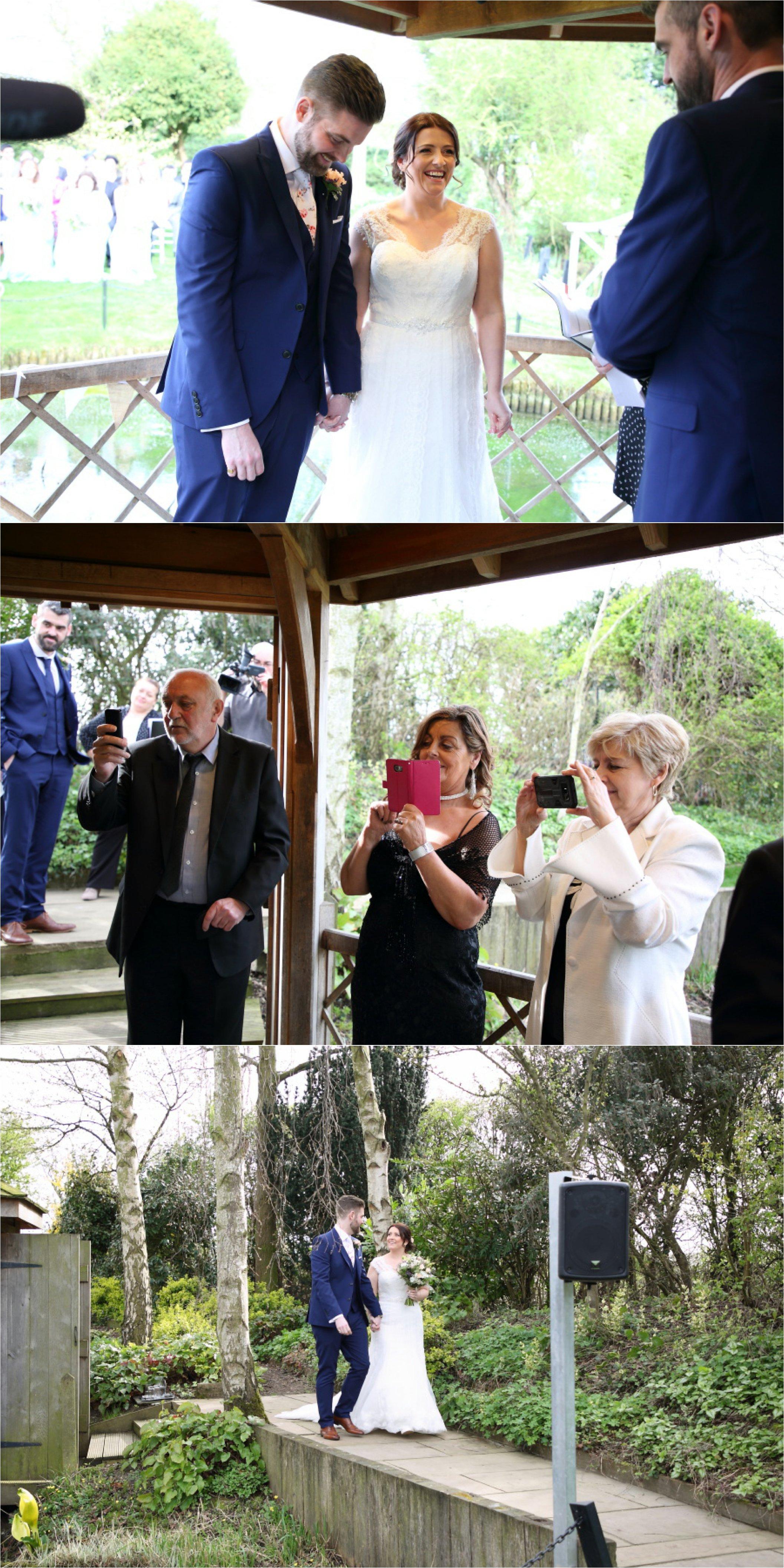 south farm wedding photography, spring outdoor ceremony