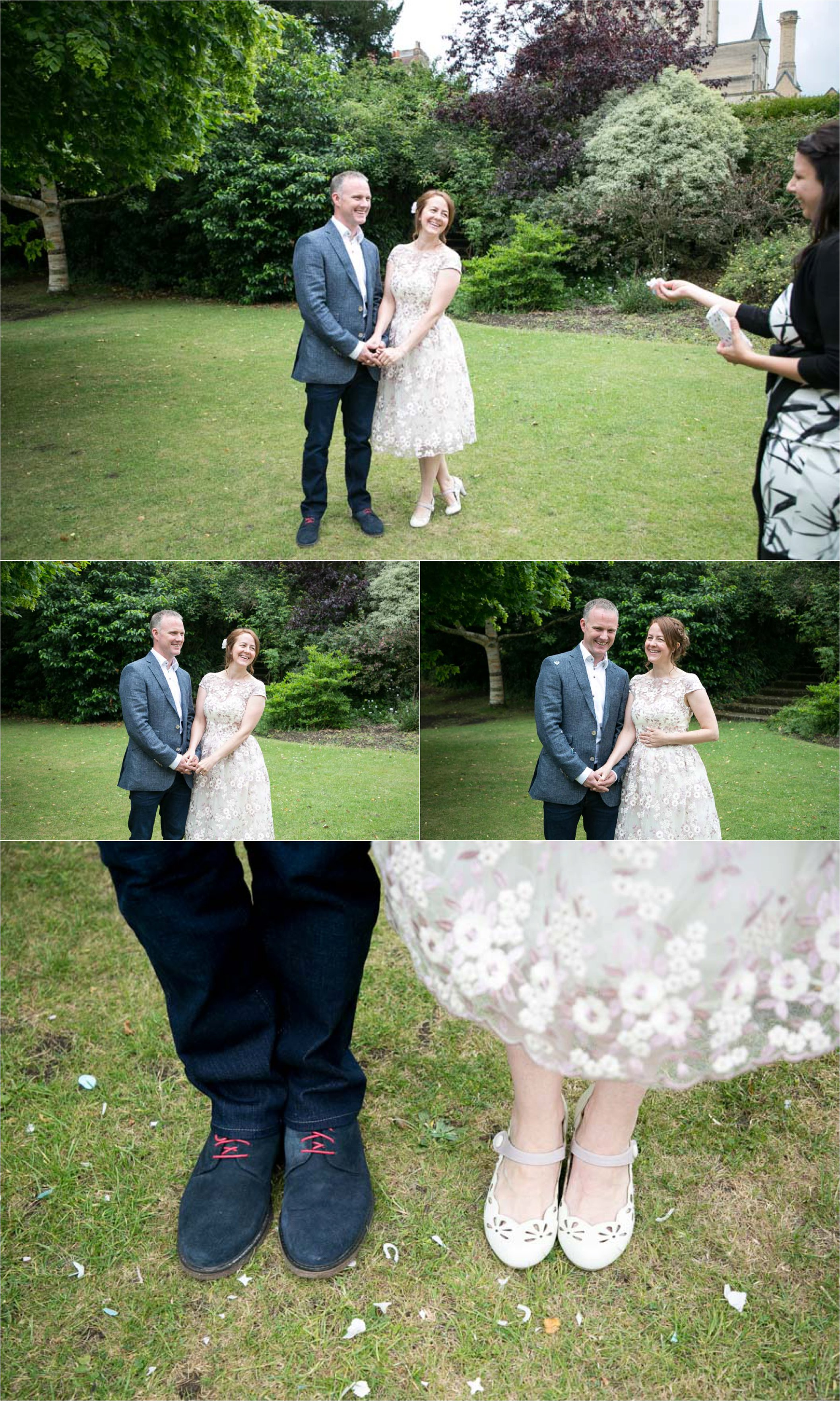 intimate elopement wedding photography in the abbey gardens, bury st edmunds