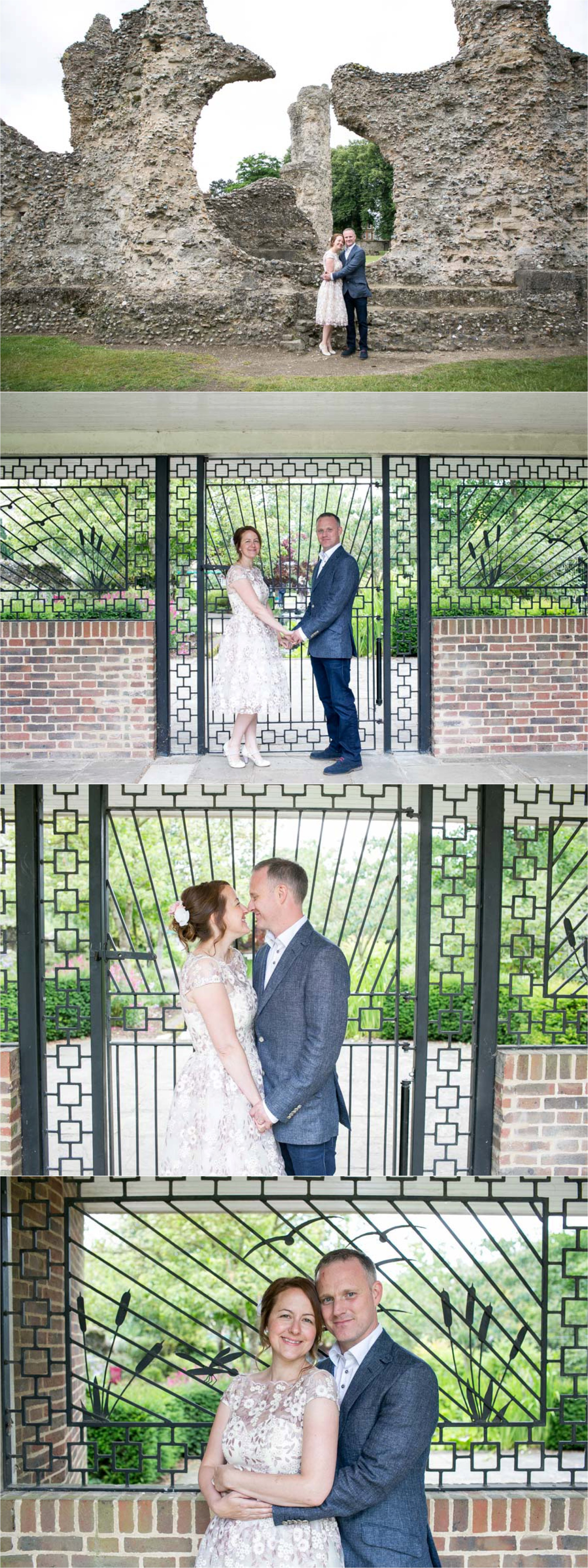 elopement wedding photography in the abbey garden, bury st edmunds.