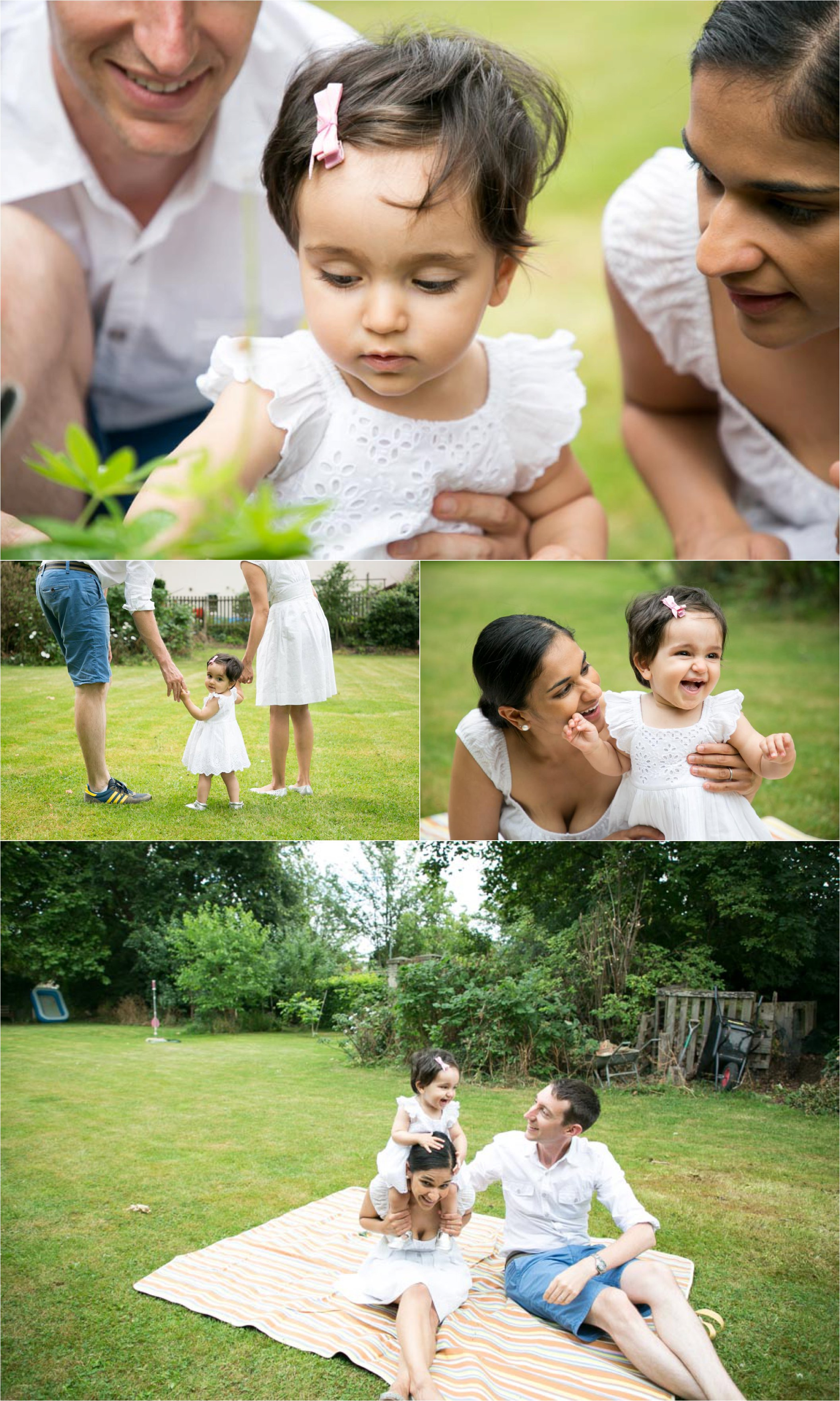 relaxed family photography in Cambridge, in the garden relaxing together