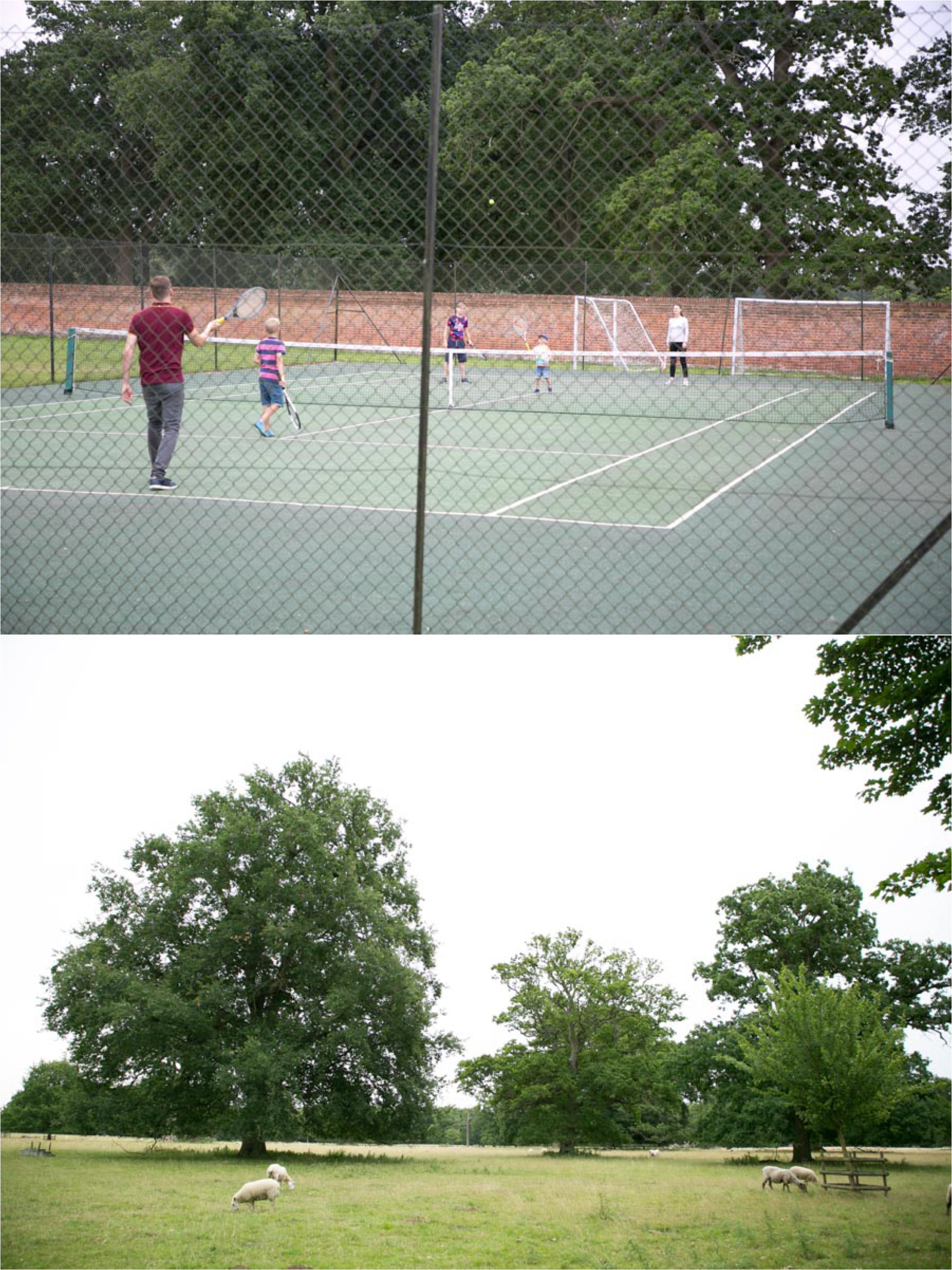 tennis and landscape at ickworth hotel suffolk