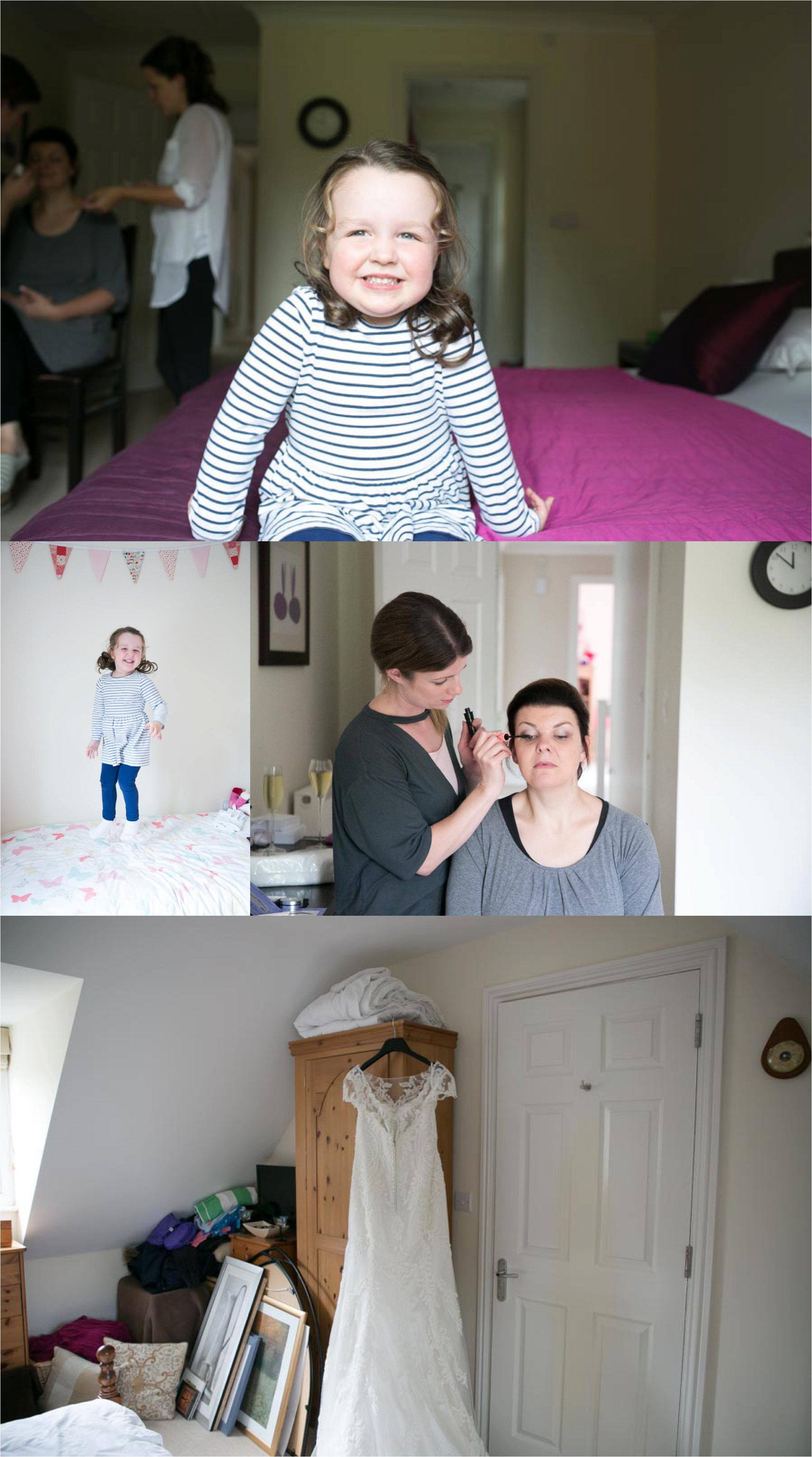 mildenhall wedding photography, getting ready at home
