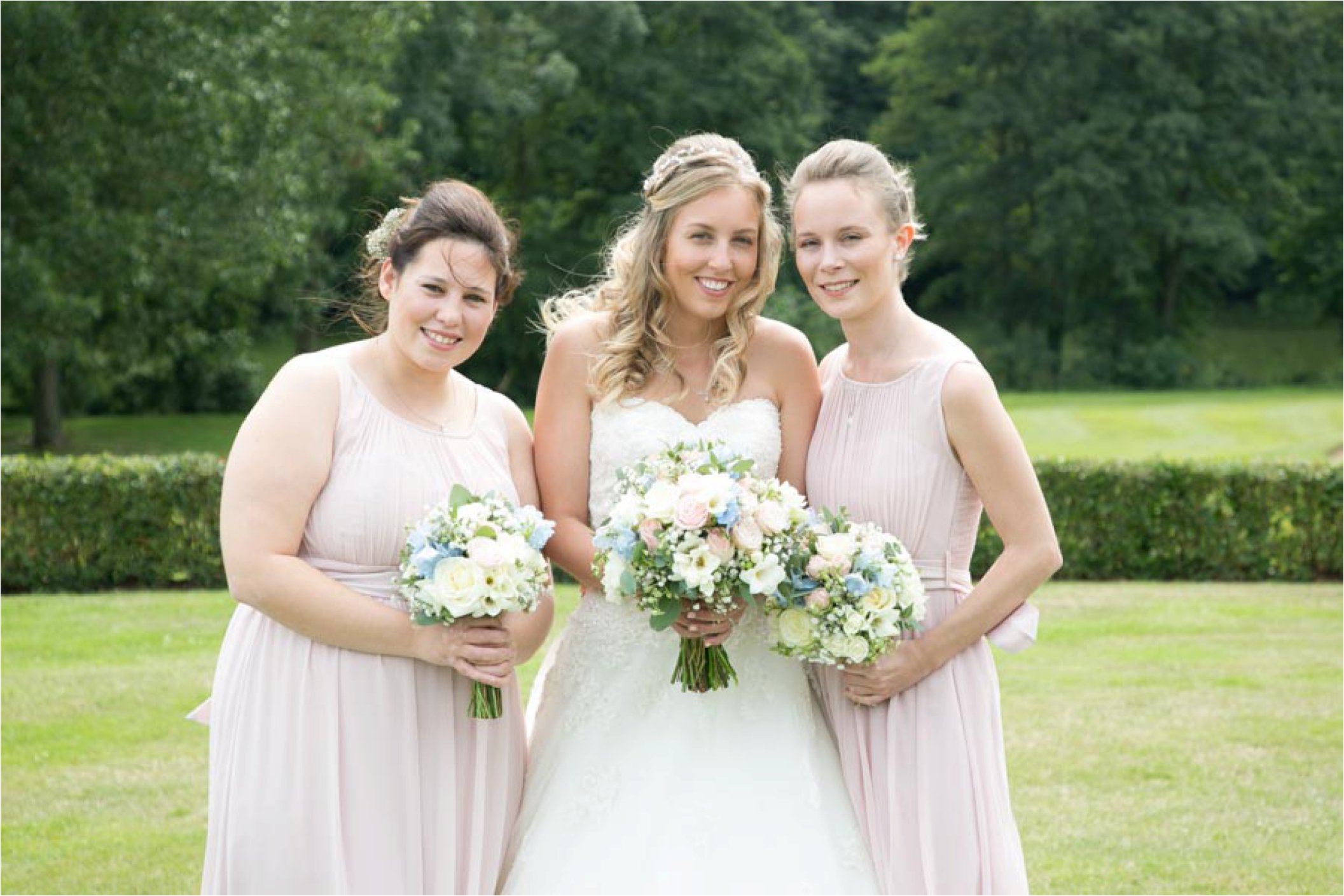 pastel bridesmaids stoke by nayland golf club wedding