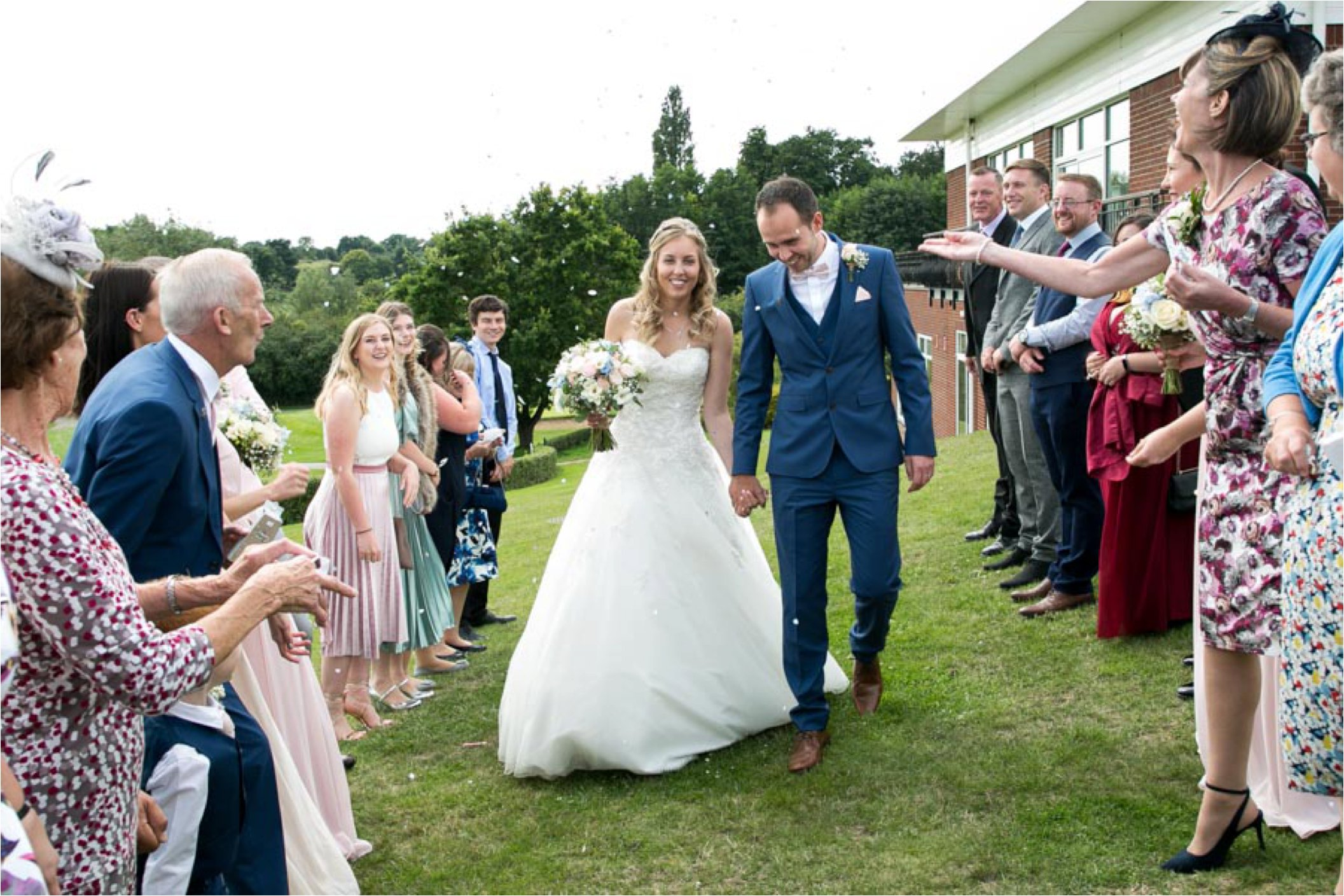 confettii at stoke by nayland golf club wedding