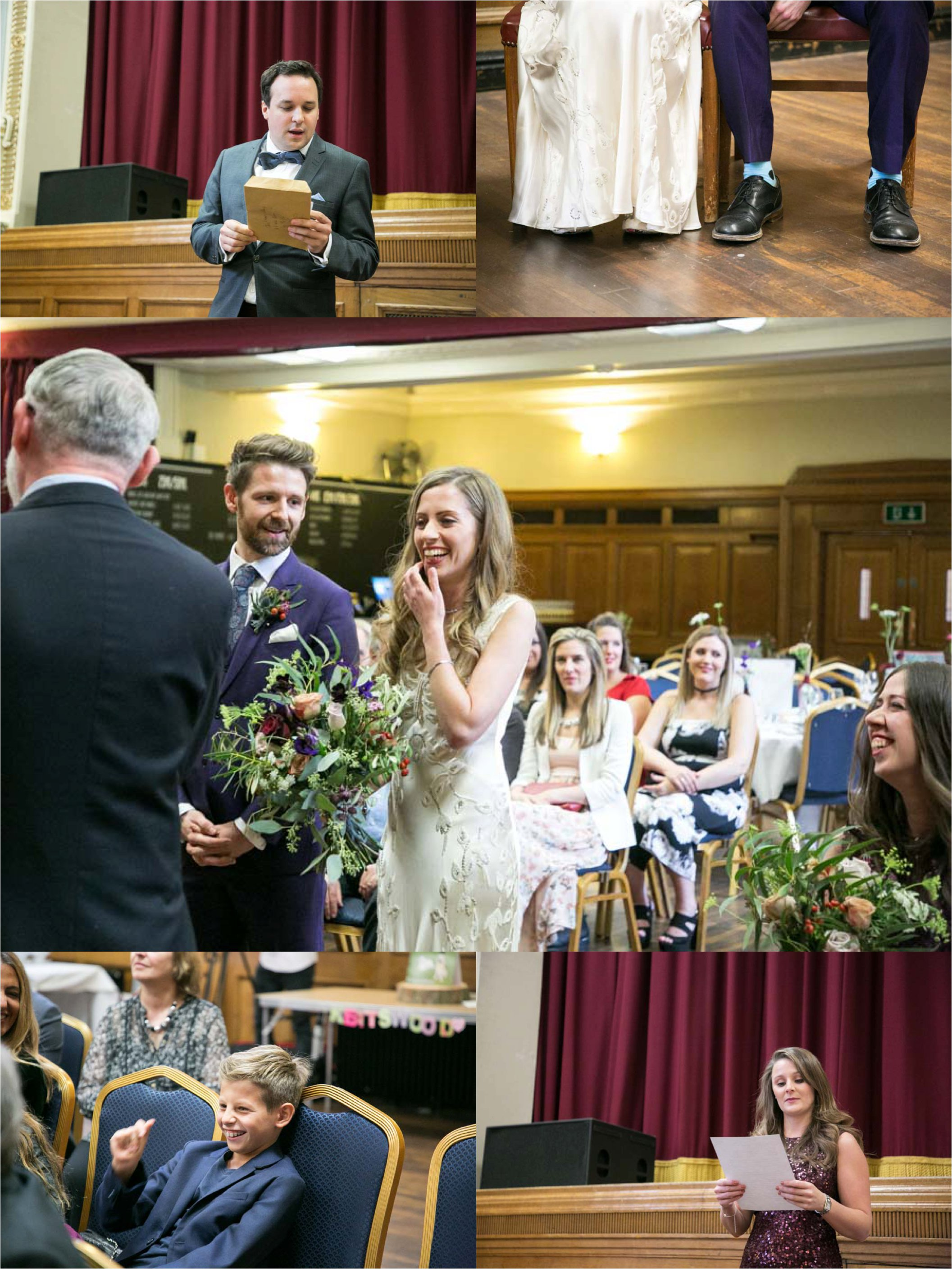 quirky wedding photography at isligton assembly hall