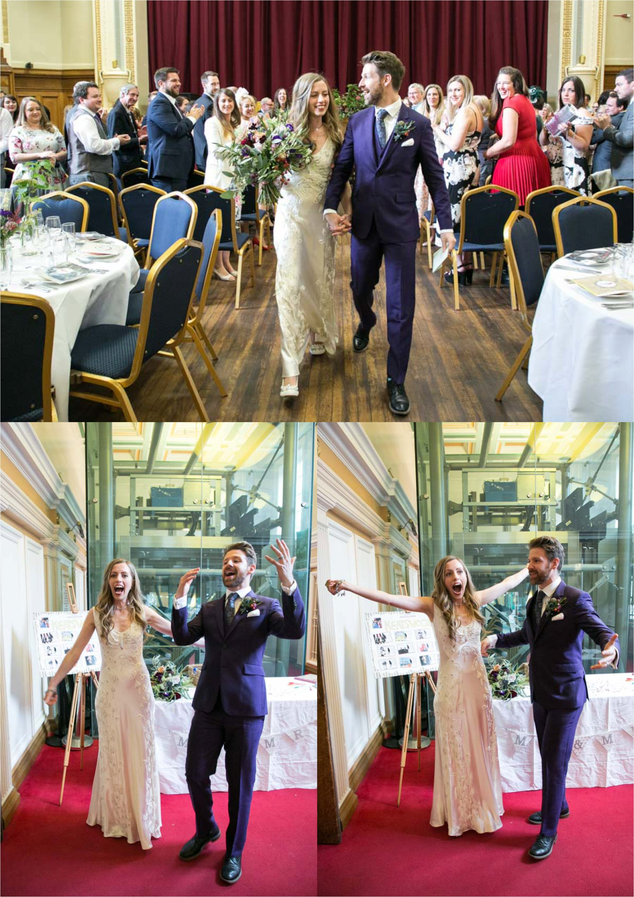 fun couple at islington assembly hall wedding
