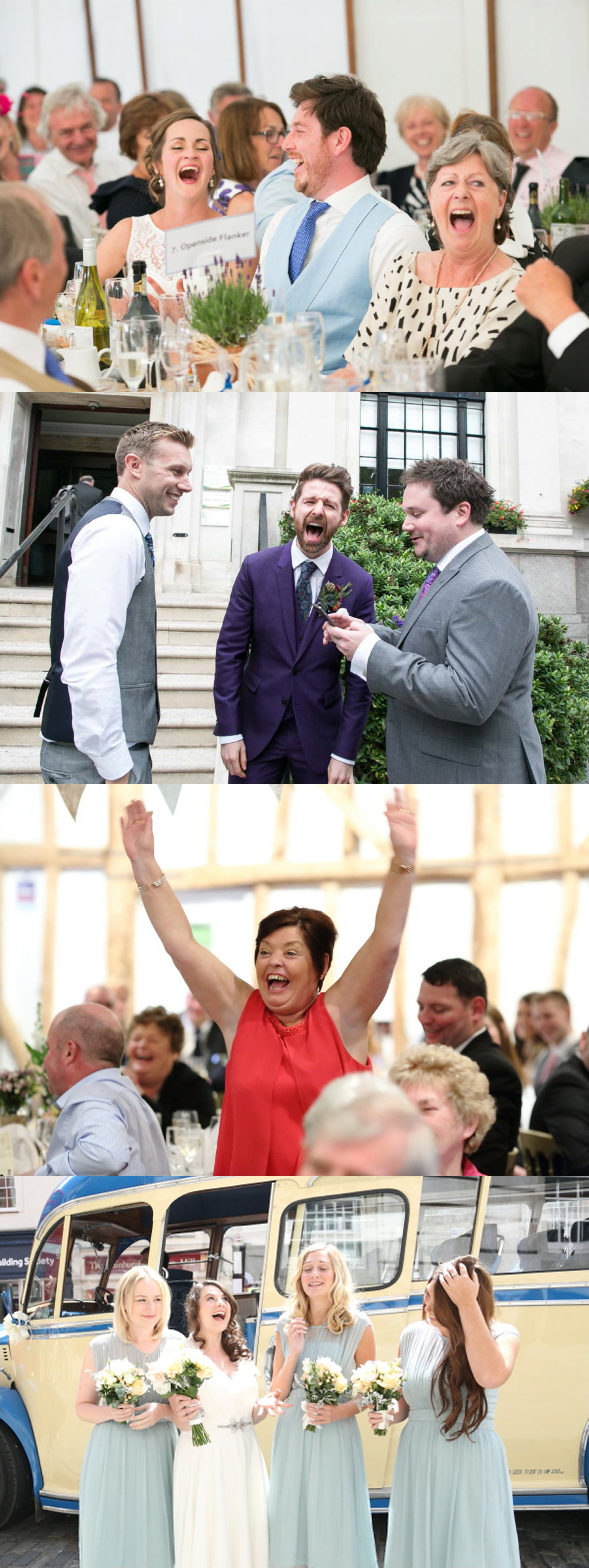 emotive wedding photography in cambridge and suffolk, laughing expressions captured